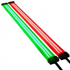 "SIL0009-RD + SIL0009-GN 13"" 132 LED Double Row Marine Navigation Light Strip Kit"