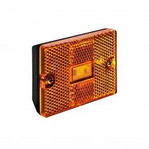 """3"""" x 2"""" Rectangular Stud-Mount Reflector Clearance Marker Light - AMBER"""