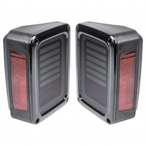 Line & Halo Design 60-LED Tail Light - Smoked (Fits 2007-2018 Jeep Wrangler JK & Unlimited)