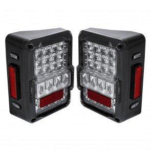 Matrix Design DOT Compliant Tail Light Clear Lense (Fits 2007-2018 Jeep Wrangler JK & Unlimited)