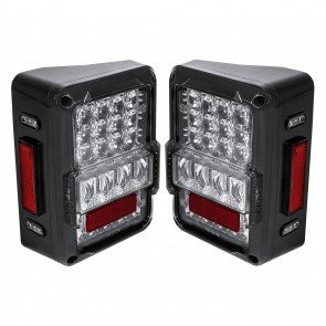 Matrix Design DOT Compliant Tail Light Clear Lense (Fits 2007-2018 Jeep Wrangler JK & Unlimited)
