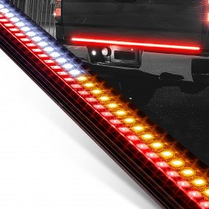 "49"" Sequential Turn Signal Reverse Light 2-Row LED Tailgate Light Bar"