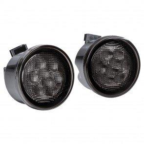 Amber 8-LED Turn Signal Light w/ DRL - Smoked (Fits 2007-2018 Jeep Wrangler JK & Unlimited)