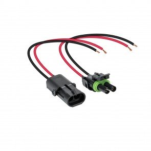 """2-Way 12 AWG 10"""" Wire Weather Pack Connector"""