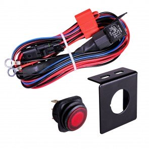 CRUIZER 17ft 30/40A Relay 12AWG 1-1 Wiring Harness w/ 25A SPST On/Off Rocker Switch - Red