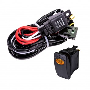 CRUIZER 8ft 30/40A Relay 30A Fuse 1-2 Wiring Harness w/ 20A SPST On/Off Rocker Switch