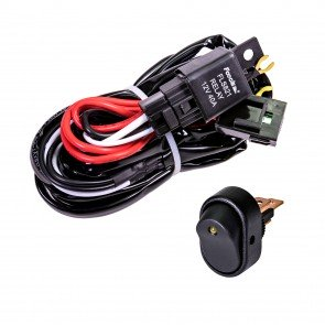 CRUIZER 8ft 30/40A Relay 30A Fuse 1-2 Wiring Harness w/ 30A SPST On/Off Rocker Switch