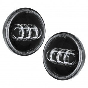 "2pc 4.5"" Round 30W 6,500K Fog Light - Black Housing"