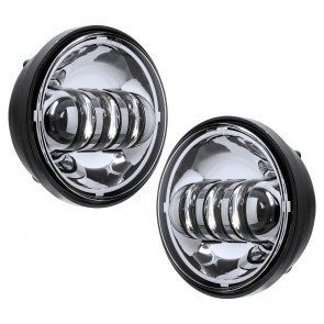 "2pc 4.5"" Round 30W 6,500K Fog Light - Chrome Housing"