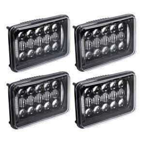 "4pc 6"" x 4"" 48W Headlight w/ DRL"