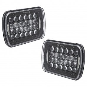 "2pc 7"" x 5"" LED Headlight w/ DRL"