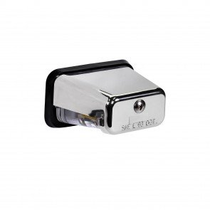 Stud-Mount License Plate Light - Chrome