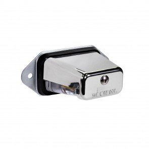 Surface-Mount License Plate Light - Chrome