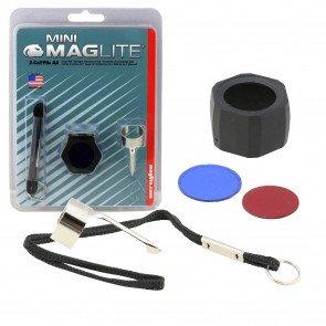 Pocket Clip, Lanyard Wrist Strap w/ Key Ring, Lens Holder w/ Lenses for Mini Maglite MAG002, MAG003, MAG004, MAG005