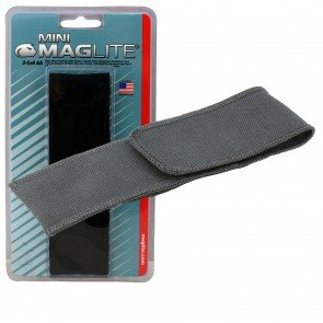 Flashlight Full Flap Holster for Mini Maglite - Black for Mini Maglite MAG002, MAG003, MAG004, MAG005