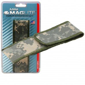 Flashlight Full Flap Holster - Camo for Mini Maglite MAG002, MAG003, MAG004, MAG005