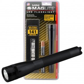 Mni Maglite Pro LED Flashlight w/ Holster - Black