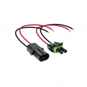 """2-Way 16-AWG 10"""" Wire Weather Pack Connector"""