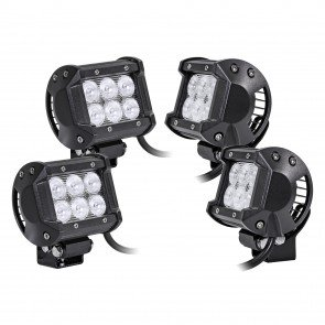 "4pc LAMPHUS CRUIZER CRLB06 4"" 18W Off Road LED Light Bar"