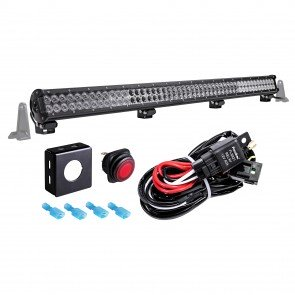 "LAMPHUS CRUIZER CRLB96 44"" 288W Off Road LED Light Bar + Wiring Harness Kit"
