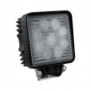 "4.25"" 27W LED Square Work Light - Flood"