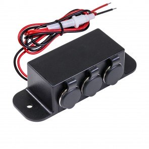 3-Port Cigarette Lighter Outlet Extension Box