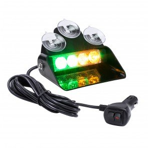 "SolarBlast 6"" 4W Dash Light - Amber / Green"