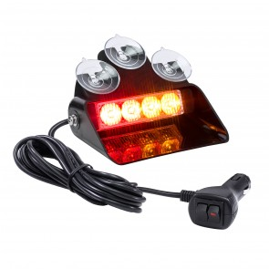 "SolarBlast 6"" 4W Dash Light - Amber / Red"