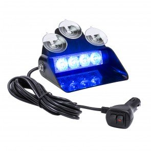 "SolarBlast 6"" 4W Dash Light - Blue"