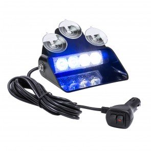 "SolarBlast 6"" 4W Dash Light - Blue / White"