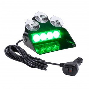 "SolarBlast 6"" 4W Dash Light - Green"