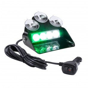 "SolarBlast 6"" 4W Dash Light - Green / White"