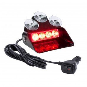 "SolarBlast 6"" 4W Dash Light - Red"