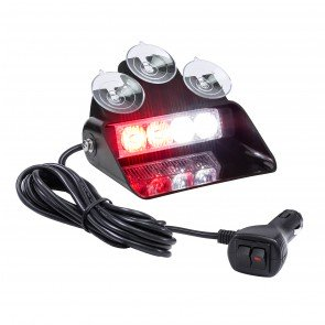 "SolarBlast 6"" 4W Dash Light - Red / White"