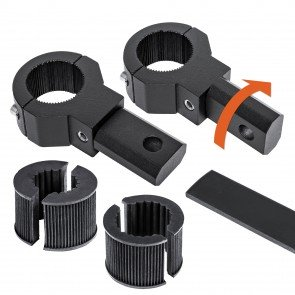 "2pc 360-Degree Bar Mount Clamp - Fits 0.75""/1""/1.25"" Bars"