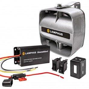 SoundAlert 100W Electric Air Horn Amplifier + 100W 120-130dB Speaker Kit