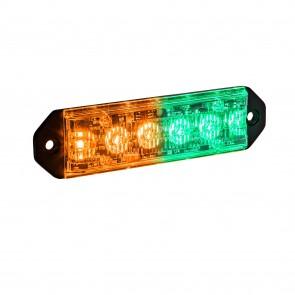 "PlanarFlash 5"" 6W Light Head - Amber / Green"