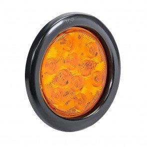 "4"" 10-LED Round Tail Light - Amber"