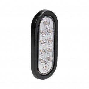 "6"" 10-LED Oval Tail Light - White"
