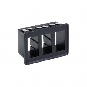 3-Slot Expandable Standard Rocker Switch Panel/Housing Kit