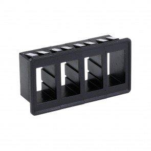 4-Slot Expandable Standard Rocker Switch Panel/Housing Kit