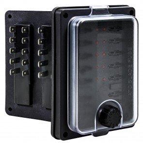 10-Way 250A IP56 Waterproof LED Indicator ATC/ATO Blade Fuse Box