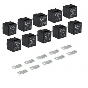 10pc 12V DC 40/30A SPDT Bosch Style 5-Pin Relay