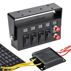 Switch Box w/ 4 ON/OFF Rocker Switches and 2 Momentary Switches
