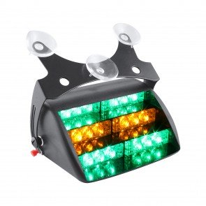 "5"" 18-LED Dash Light - Amber / Green"