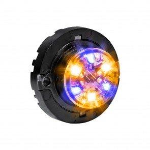 SnakeEye-III 6W Surface-Mount Hideaway Light - Amber / Blue