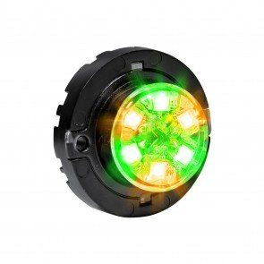 SnakeEye-III 6W Surface-Mount Hideaway Light - Amber / Green