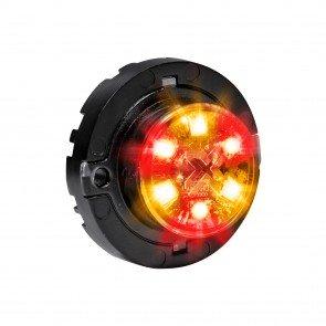 SnakeEye-III 6W Surface-Mount Hideaway Light - Amber / Red