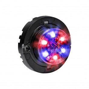SnakeEye-III 6W Surface-Mount Hideaway Light - Blue / Red