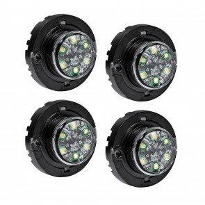 4pc SnakeEye-III 6W Surface-Mount Hideaway Light